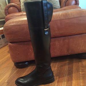Black Zara knee high boots.